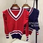 เสื้อผ้าแฟชั่นเกาหลีพร้อมส่ง เสื้อแขนยาวสไตล์เกาหลี