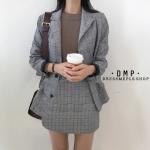เสื้อผ้าเกาหลีพร้อมส่ง Set Blazer+Skirt