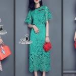 noble luxury lace short sleeve top feminine skirt set
