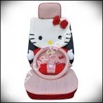 ชุดหุ้มเบาะลาย Hello Kitty แบบเต็มตัวผ้าตาข่าย (สีแดง)