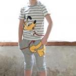 เสื้อ+กางเกง สีเทา 100-140