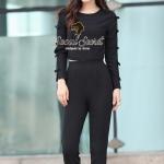 Ela Black Set Bow Sleeve by Seoul Secret