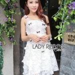 Leslie Flower Lace Dress with Crystal Dragonflies