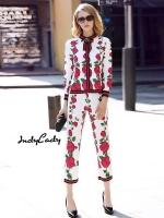 เสื้อผ้าเกาหลีพร้อมส่ง งาน Brand Gucci เสื้อ+กางเกง