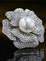 Diamond Brooch เข็มกลัดดอกไม้เพชร CZ