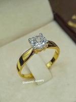 แหวนเพชรทรงแหวนหมั้นงานประดับด้วยเพชรสวิส