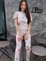 เสื้อผ้าแฟชั่นเกาหลีพร้อมส่ง Jumpsuit สวยลงตัวในชุดเดียว