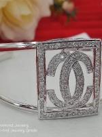 Chanel Bangle กำไลชาแนล งานทองคำขาว 5 ไมครอน