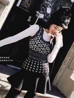 เสื้อผ้าเกาหลีพร้อมส่งSet เสื้อแขนกุด+กระโปรง