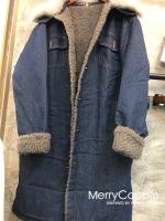 เสื้อผ้าเกาหลีพร้อมส่ง เสื้อโอเวอร์โค้ทยีนส์ ตัวนี้ด้านในบุขนเป็ดทั้งตัว!