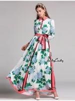 ชุดเดรสแฟชั่นพร้อมส่ง Maxi Dress Brand Dolce&Gabbana