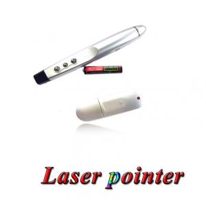 รีโมทพรีเซนไร้สายLaser pointer wireless presentation ใช้กับpowerpointใส่ถ่าน 3AAA-Silver