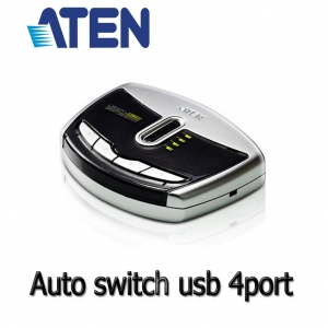 ATEN auto switch USB 4 คอม1 print US421A