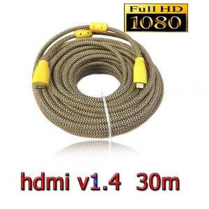 hdmi to hdmi full HD 3D v1.4 ส่ายถัก สายใหญ่ ยาว 30M