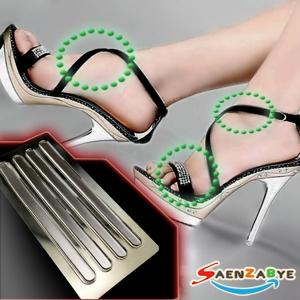แผ่นกันรองเท้ากัดแบบเจลซิลิโคนใสแบบเส้น