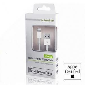 สาย ชาร์จ usb lightning cable ใช้กับ iphone5 5s 5c ipad ยาว1m สำหรับ IOS7 ไม่ขึ้นแจ้งเตือนค่ะ Avantree AVT-932ของแท้ มีlicenceของAPPLE