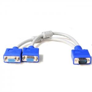 Y VGA Splitter cable 1ออก2 1com 2จอ -blue