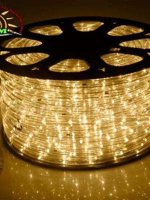 ไฟสายยาง ท่อกลม LED 100 m สีวอมไวท์