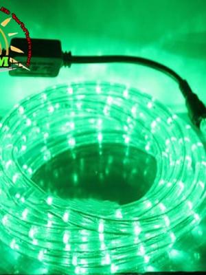 ไฟสายยางท่อกลม 10 ม. สีเขียว
