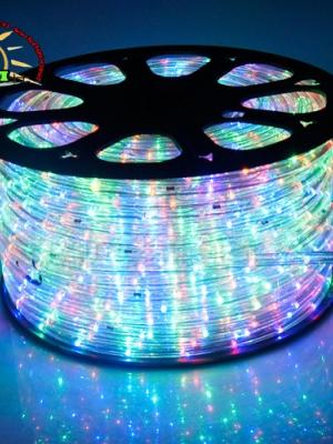 ไฟสายยาง ท่อกลม LED 100 m สีรวม