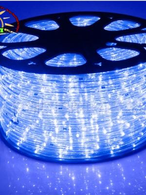 ไฟสายยาง ท่อกลม LED 100 m สีฟ้า