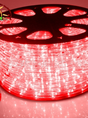 ไฟสายยาง ท่อกลม LED 100 m สีแดง