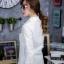 เสื้อผ้าเกาหลีพร้อมส่ง เดรสเชิ้ตแขนยาว กระดุมเรียงสกรีนลาย thumbnail 14