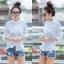 เสื้อผ้าเกาหลีพร้อมส่งเสื้อเชิ้ตลายตาราง thumbnail 8