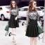 ชุดเดรสเกาหลีพร้อมส่ง All New Self P Floral LAce Luxury Dress thumbnail 8
