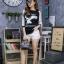 เสื้อผ้าแฟชั่นเกาหลีพร้อมส่ง เสื้อไหมพรมแขนยาวเนื้อบาง thumbnail 5