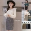 เสื้อผ้าแฟชั่นเกาหลีพร้อมส่ง กระโปรงผ้าpolyesterเนื้อดีเกรดเกาหลี ทอผสมกลิตเตอร์ thumbnail 9