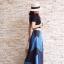เสื้อผ้าเกาหลีพร้อมส่งกระโปรงผ้ายีนส์ งานตัดเย็บสลับสี thumbnail 4