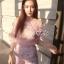 เสื้อผ้าเกาหลีพร้อมส่ง ชุดSetเสื้อคอปเปิดบ่าตัวสั้นงานปักลายดอกไม้ thumbnail 3