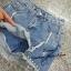 เสื้อผ้าเกาหลีพร้อมส่ง กระโปรงกางเกงยีนส์ ขาสั้น thumbnail 3