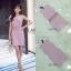 ชุดเดรสเกาหลีพร้อมส่ง Dress ขนนกคอวีแขนกุด thumbnail 4