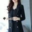 เสื้อผ้าเกาหลีพร้อมส่ง Chic Coral Pink&Black Cami Suite Set thumbnail 2