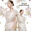เสื้อผ้าเกาหลีพร้อมส่ง เสื้อซีทรูแขนสั้น ด้านหน้าปักดอกไม้สีสันสดใส thumbnail 1