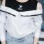 เสื้อผ้าเกาหลีพร้อมส่งเสื้อเชิ้ตแขนยาวต่อผ้ายืดช่วงบน ดีไซน์เปิดไหล่ thumbnail 14
