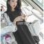 ชุดเดรสเกาหลีพร้อมส่ง เดรสผ้ายืดสีดำตกแต่งแขนซิลค์คอตตอน thumbnail 11