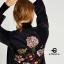 เสื้อผ้าเกาหลีพร้อมส่ง เสื้อคลุมตัวยาวผ้ากำมะหยี่เนื้อดี ซับในทั้งตัว thumbnail 3