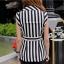 ( พร้อมส่ง) ชุดเซ็ทเสื้อกับกางเกง ในลุคเรียบๆแบบเก๋ๆ เสื้อกั๊กปกสูทลายริ้วสีขาว-ดำ เนื้อผ้า polyester spandex เนื้อผ้าหนาสวย แต่งกระดุมสองแถว พร้อมเชือกผูกเก็บทรง แมตช์กับกางเกงขาสั้นทรงสวยสีดำ กางเกงทรงเอวความสูงระดับกลางนะคะ thumbnail 10