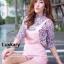 เสื้อผ้าแฟชั่นเกาหลีพร้อมส่ง Set 2 ชิ้นเสื้อคอเต่าแขน 4 ส่วน thumbnail 1