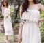 Molly Sweet Feminine Off-Shoulder White Lace Dress thumbnail 6