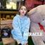 เสื้อผ้าเกาหลีพร้อมส่ง เสื้อกันหนาว oversize มีฮู้ดสีน่าร้าก thumbnail 2