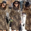 เสื้อผ้าแฟชั่นเกาหลีพร้อมส่ง แม็กซี่เดรสลายเสือ thumbnail 3