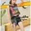 เสื้อผ้าเกาหลีพร้อมส่ง งาน Set 2 ชิ้น เสื้อกล้ามผ้ายืด พิมพ์ลาย สุดเท่ย์ thumbnail 4
