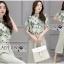 เสื้อผ้าเกาหลี พร้อมส่งเซ็ตเสื้อพิมพ์ลายดอกไม้และกางเกง thumbnail 3