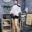 เสื้อผ้าแฟชั่นเกาหลีพร้อมส่ง เสื้อแขนยาว แต่งเว้าไหล่ ก thumbnail 8