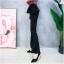 เสื้อผ้าเกาหลีพร้อมส่ง กางเกงขานบานสีดำ (Black) ผ้าโพลีเนื้อทิ้งตัวดูแพง thumbnail 4