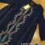 ชุดเดรสเกาหลี พร้อมส่งมินิเดรสผ้าคอตตอนสีน้ำเงินปักลายสไตล์ชนเผ่า thumbnail 13